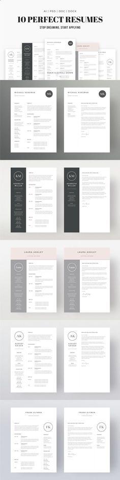 job seekers dream bundle professional downloadable resume template designs - Professional Format For Resume