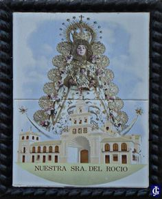 Azulejo Virgen del Rocio Calle Teodoro Miciano Jerez