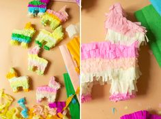 mini pinata ornaments...how sweet for a garland at a birthday party