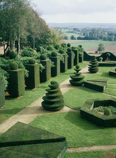 The formal gardens of Chateâu de La Ballue, a 17th century palace on the border…