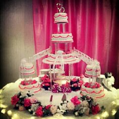 Classic Wedding Cake, Bridge of two hearts joining as one. ♥