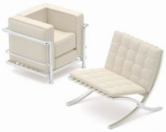 Le Corbusier Chair & Barcelona Chair by Mies Van der Rohe -- even dolls want one their own size!
