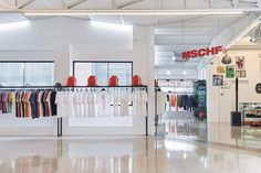 Take a Look Inside MSCHF's First Flagship Store: Opening the store with a series of limited items. Minimalist Mirrors, Retail Boutique, Retail Experience, News Space, Office Set, Retail Interior, Three Floor, Large Windows, Store Design