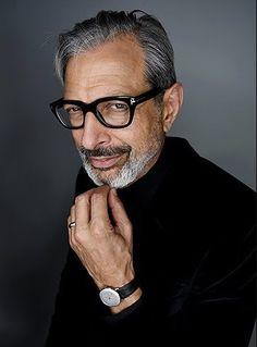 The Style Evolution of Jeff Goldblum - - Older Men Haircuts, New Mens Fashion, Fashion 101, Fashion Eye Glasses, Mens Glasses, Gentleman Style, Men Looks, Stylish Men, Style Icons