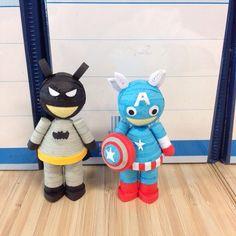 batman & Capten America 3d