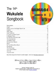 Pop songs for uke singalong.