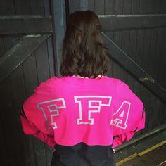 Hot Pink and Metallic FFA Varsity Crew long sleeve shirt