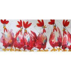 schilderij kippen awx502c diverse afmetingen - kopen bij mooiaandemuur.com
