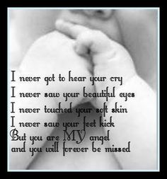 For everyone who experienced loss in anyway of a baby understand the emptiness that is left. Although I have two beautiful babies to tuck in every night we have 4 angels in heaven watching over us all! October is pregnancy and infant loss awareness month. Miscarriage Remembrance, Miscarriage Quotes, Miscarriage Awareness, Miscarriage Tattoo, Infertility Quotes, Grieving Quotes, Baby Engel, Infant Loss Awareness, Pregnancy And Infant Loss