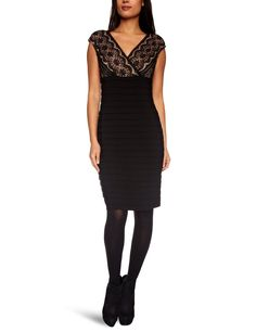 Adrianna Papell Women Lace Banded Pleated Sleeveless Dress