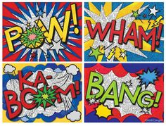This piece of art was made by Roy Litchenstein in the He was one of the main artist of the Pop Art Movement. Pop Art was a movement that represented commercial art, with its bright colors and bold images. Arte Pop, Art Classroom, Classroom Themes, Superhero Classroom Theme, Classe D'art, 6th Grade Art, Ecole Art, Art Lessons Elementary, Upper Elementary