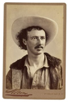 Cabinet Card of Texas Jack Omohundro, famous scout, Indian fighter, cowboy, marksman, showman and friend to Wild Bill Hickok and Buffalo Bill Cody.