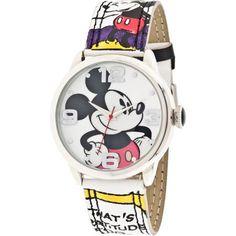 Disney Women's Mickey Mouse Comic Strip Watch - Walmart.com