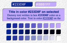 Color Tester >>> http://www.wdb.injoystudio.com/color-tester