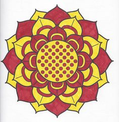 Flower Kaleidoscope Mandala Page Can Be Found In Meditation Coloring Book By Barnes And Noble