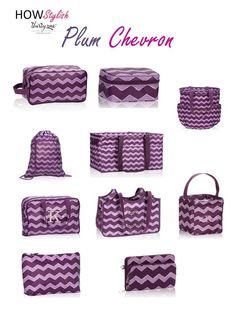 Plum Chevron -- Spring 2015 Thirty-One.  Created by HOWStylish, independent consultant.