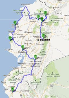 proposed route for Perú --> Ecuador