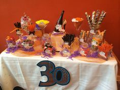 Thirtieth Birthday Candy Table! High Heels and Flirty Thirty!