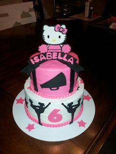 Hello kitty/ cheerleader cake facebook.com/cakesbyjenhavenar