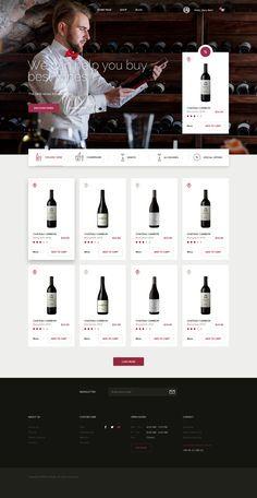png by Michal Parulski Website Layout, Web Layout, Wine Websites, Template Web, Website Template, Food Web Design, Iphone App Design, Wine Label Design, Website Design Inspiration