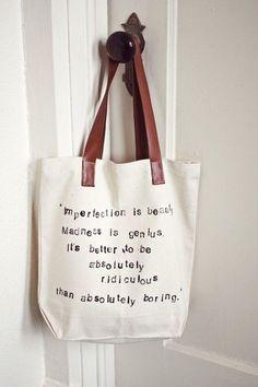 Cómo hacer un bolso con tu frase favorita estampada