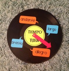 Stay Tuned!- FREE PRINTABLES to make a DIY Tempo Turn using an old record!