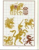 Gallery.ru / Фото #109 - Repertoire des motifs - Orlanda Blackwork, Medieval, Album, Projects To Try, Cross Stitch, Diagram, Map, Gallery, Motifs
