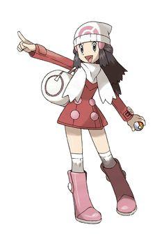 "Pokemon Trainer Dawn from ""Pokemon"""