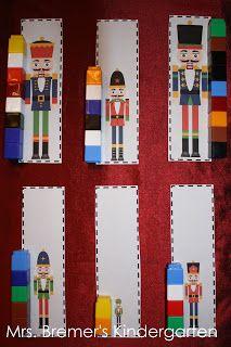 Measure the nutcrackers using unifix cubes.  How many unifix cubes tall is the nutcracker?