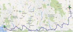Calgary to Vancouver via Highway 3. Google Maps.