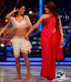 Shakti Mohan and Madhuri Dixit Picture Gallery image # 267157 at On The Sets of Jhalak Dikhhla Jaa containing well categorized pictures,photos,pics and images. Bollywood Actress Hot Photos, Bollywood Girls, Beautiful Bollywood Actress, Most Beautiful Indian Actress, Bollywood Fashion, Bollywood Cinema, Beautiful Girl In India, Beautiful Saree, Kashta Saree