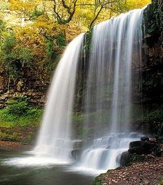 Waterfalls in the Vale of Neath, Britain