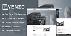 Evenzo - One Page Corporate PSD Template. by centurycoding Evenzo ¨C One Page Corporate PSD Template.Evenzo Template is an Unique design idea for your business. PSD files are well organized