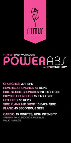 FitMiss Power Abs Workout