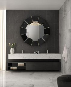 Materials like black lacquer and brass are combined into a perfect harmony in order to create a masterpiece like the Darian Black. A simple yet unique luxury item that captures both the functionality of a mirror and the splendour of an art piece. Decorative, practical and divine.