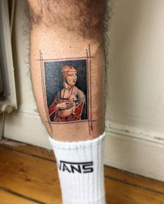 Lady with an Ermine tattoo by Eva Krbdk
