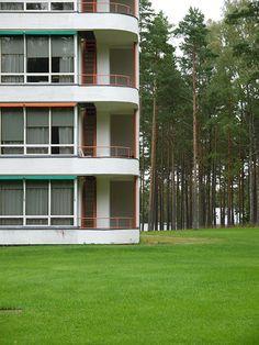 a+t - Alvar Aalto. Historical Architecture, Interior Architecture, Turku Finland, Alvar Aalto, Building Art, Facade Design, Balconies, Masters, Design Inspiration