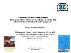X seminário da Francofonia - UEFS 2013 by Silvania Capua via slideshare