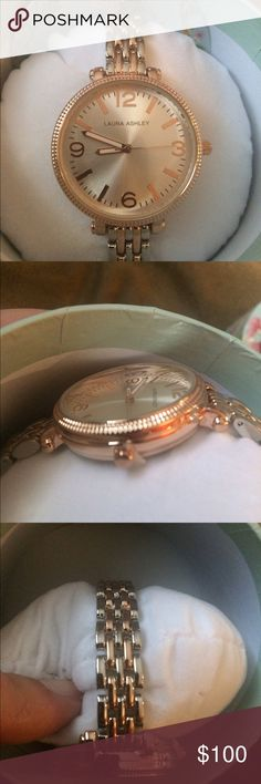 New in package Laura Ashley watch New in package Laura Ashley two tone rose gold bracelet link watch Laura Ashley Accessories Watches