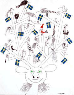 OE-01 北欧ポスター「トナカイ君と小鳥たち」 by オーレエクセル|ポスター|Happy Graphic Gallery ハッピーグラフィックギャラリー