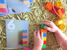 Free Printable Duplo Number Cards. Plus 5 fun ways to use them! Learn with Play at home