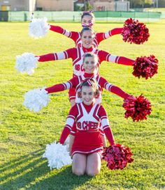 Attention-grabbing and Motivating Cheerleading Competition Cheers - Pretty Penny Properties Inc - Youth Cheerleading, Cheerleading Pictures, Cheer Picture Poses, Cheer Poses, Cheer Team Pictures, Squad Pictures, Team Photos, Senior Pictures, Cheer Pyramids