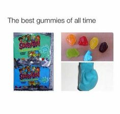 How could I have forgotten about these things!! My mom packed them every day in my lunch in 5th grade!!! And the radioactively blue Scooby was ALWAYS the best!!! Memories overload!!