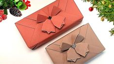 GIFT WRAPPING   CHRISTMAS GIFT PACKING IDEA + ORIGAMI BELL & RIBBON   I.Sasaki - YouTube Present Wrapping, Creative Gift Wrapping, Gift Wrapping Paper, Christmas Gift Wrapping, Christmas Bells, Creative Gifts, Christmas Gifts, Wrapping Ideas, Japanese Wrapping