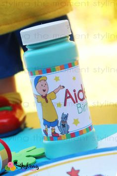 Caillou Bubble Wrapper Label by Stylingthemoment on Etsy