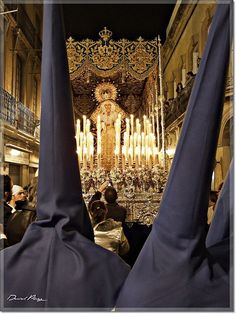 ESPAÑA---I was so fortunate to be there in 2013 to see the Semana Santa- so incredible. It is also broadcast on most the Spanish stations. Holy Week In Spain, Monuments, Lady Madonna, Spanish Culture, Bride Of Christ, Seville Spain, Spain And Portugal, Blessed Mother, Andalucia