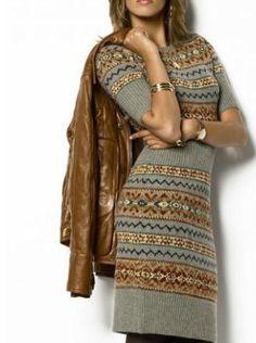 Платье с жаккардами от Ralph Lauren   Шкатулочка для рукодельниц