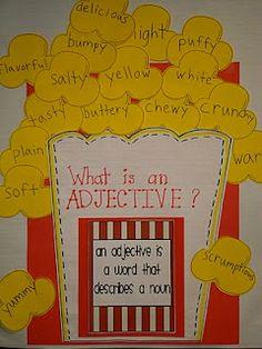 great idea for my classroom circus theme! for the Netherlands: wat is een bijvoegelijk naamwoord?