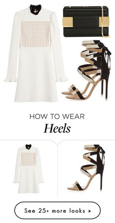 """Untitled #3225"" by evalentina92 on Polyvore featuring Giambattista Valli, River Island and Elie Saab"