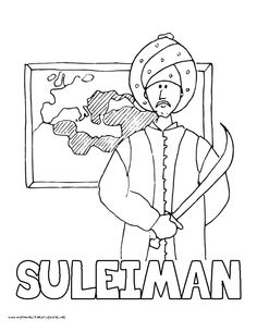 world history coloring pages printables suleiman the magnificent the lawgiver